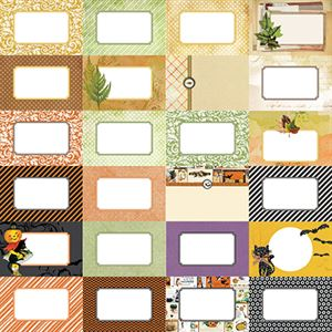 Picture of Fall Flourish by Katie Pertiet Designer Journal Cards - Set 25